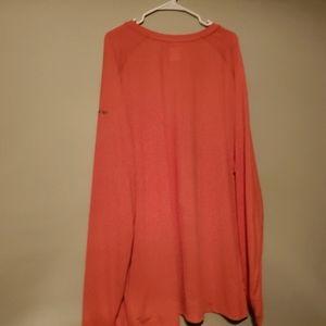 New Reebok Orange Long Sleeves Athletic  T-Shirt